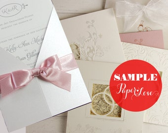 Wedding Invitation Sample - Delivery to Outside EU by Paper Love Cards