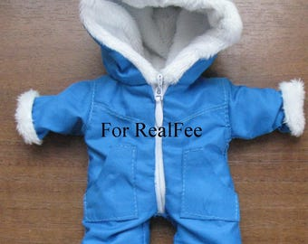 BJD dolls clothes  tiny Warm overall for RealFee Fairyland