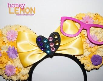 Honey Lemon Floral Minnie Ears