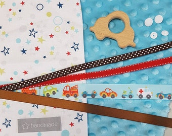 """1 KIT to sew """"taggy"""" birthday gift - DIY"""