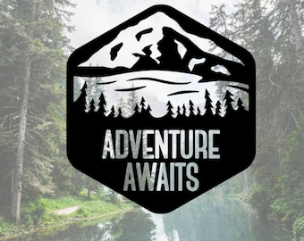 Adventure Awaits Decal, Phone Decal, Laptop Decal, Car Decal, Choose Color And Size
