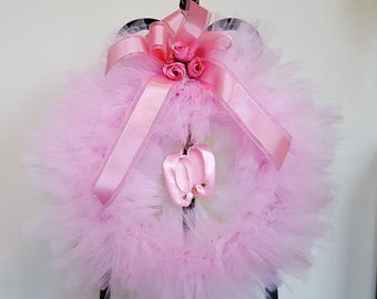 Tiny dancer pink tulle wreath