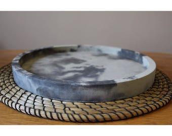 Large Round Concrete Tray