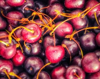 Cherries Print, Cherry Print, Kitchen Decor, Cherries Picture, Cherry Picture, Kitchen Print, Cherry Photo, Cherries Photo, Fruit Picture