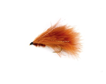 Marabou Leech Brown Streamer Wet Fly Sizes 4 6 8 Available