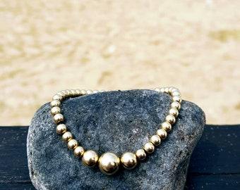 Gold Bracelet, Gold Filled Bracelet, Beaded Bracelet, Gold filled bead bracelet, Friendship bracelet