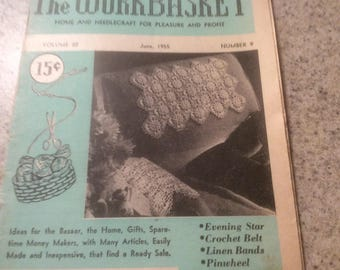 Workbasket magazine, june 1955, has 2 loose pages but theyre all there.