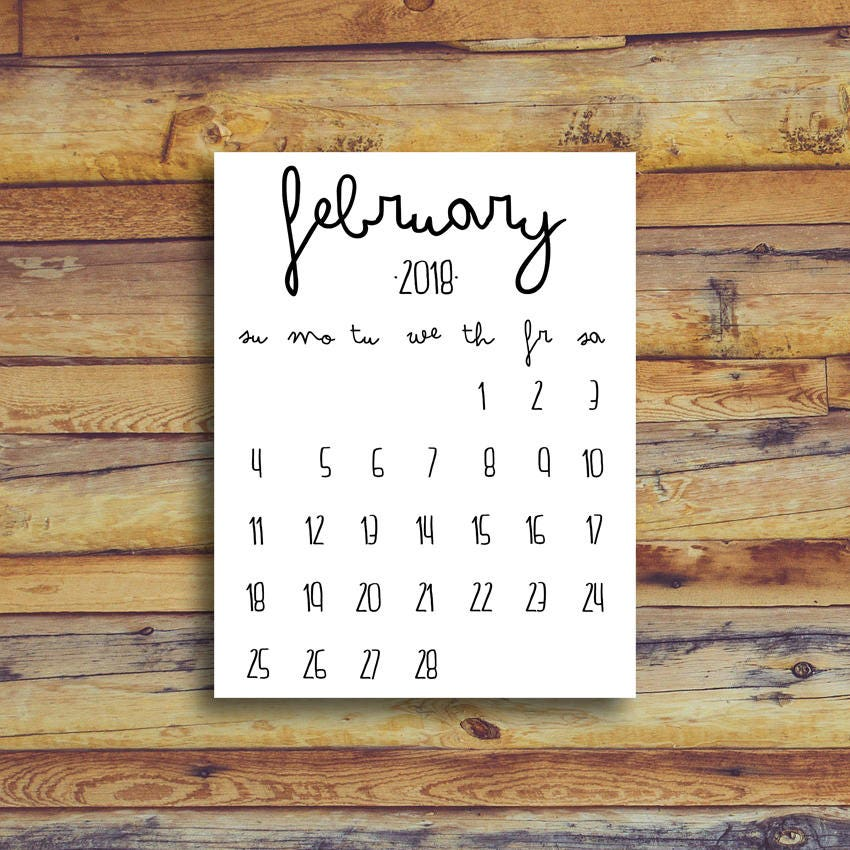 May 2018 Printable Calendar Black And White Instant