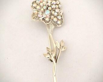 Aurora Borealis Vintage Brooch - Stardust Flower