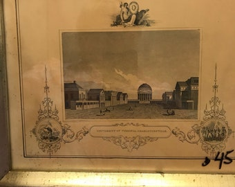 Vintage Borghese University of Virgina 1800's print