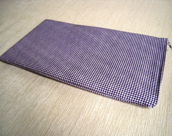 Gingham Purple - Apple Magic Keyboard Sleeve, Apple Keyboard Case, Samsung Wireless Keyboard Sleeve - Padded and Zipper Closure
