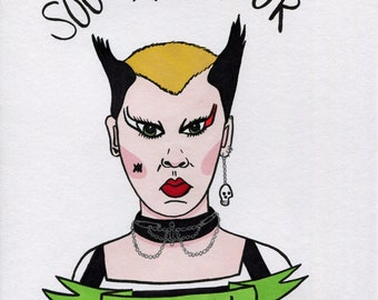 SALE! Soo Catwoman Original Illustration Drawing