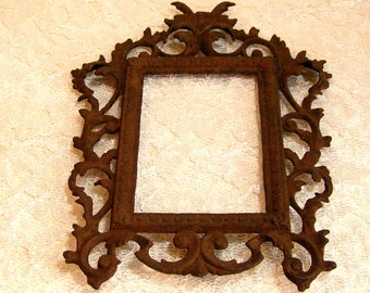 Antique Cast Iron Picture Frame