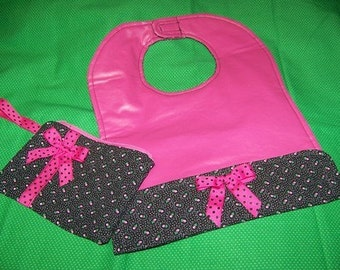 Toddler Bib and Wristlet pdf Pattern Sale  with Immediate Download e-file