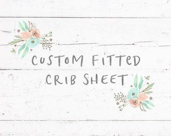 Custom Crib Sheet  Choose Your Fabric  Custom Fitted Crib Sheet In Any Fabric  Fitted Crib Sheet  Baby/Toddler Sheet Baby Bedding