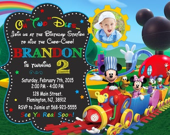 Mickey Mouse Clubhouse Invitation Birthday Party Mickey And