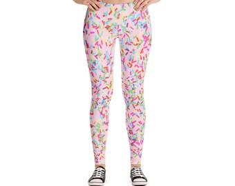 Sprinkle Leggings, Sprinkles, Colorful Leggings, Adult Leggings, Sweets Leggings, Sprinkles Print, Cupcakes and Ice Cream, Sweets Print