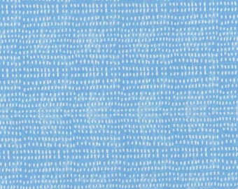 Fabric by the Yard - Tiny Seeds in Blue by Cori Dantini