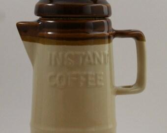 Vintage Ceramic Instant Coffee Keeper Jar by Knobler