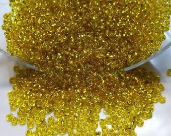 lot 20g yellow ornella seed beads