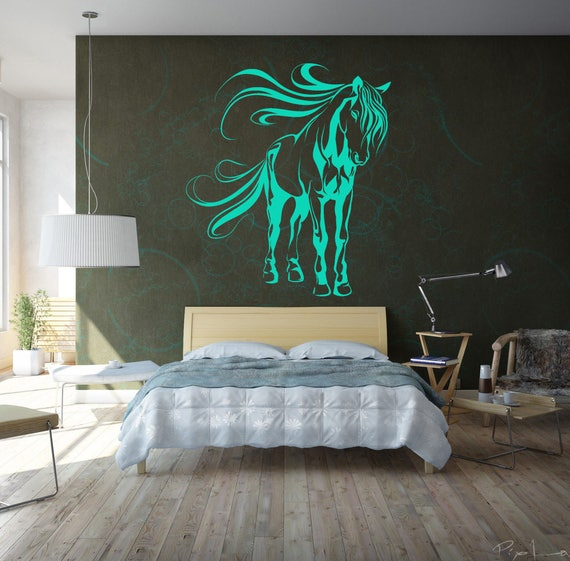 Mystic Horse in the wind - Wall decals / stickers for magical minds, Many colors and Sizes available, Mystic collection