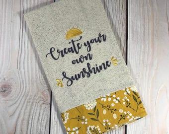 Create Your Own Sunshine Tea Towel
