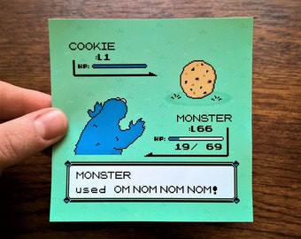 Cookiemon - Pokemon / Cookie Monster - Vinyl Sticker