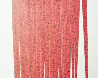Pre Cut Paper Bead Strips Craft Supplies Love on Red
