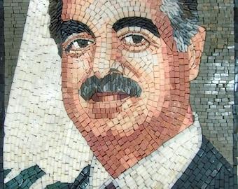 Hariri Portrait Marble Mosaic