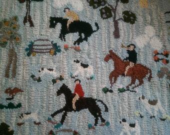 Equestrian rug.  Original design