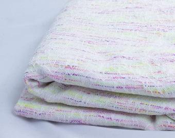 Neon Reflections baby alpaca, silk, cashmere, stellina Weft 4.9m handwoven baby wrap