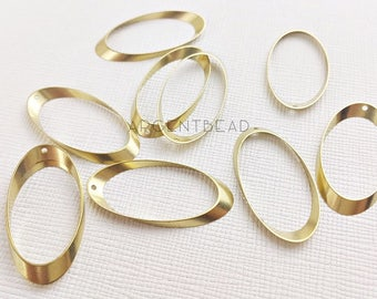 10pcs 15x 30 mm Oval Bead Frame. Jewelry beads, metal, lead-free, cadmium-free, bead component, jewelry component, bead frame. 1AG32