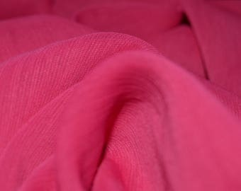 "Hot Pink Crinkle Chiffon Fabric 54"" Wide"