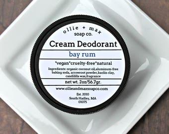 Natural Deodorant, Bay Rum Aluminum Free Deodorant, Vegan Deodorant