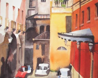Watercolor Postcards, Vacation Paintings