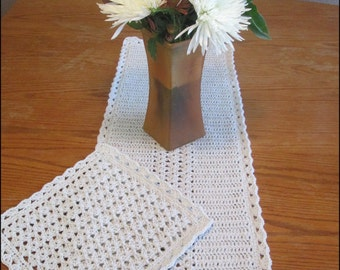 January Snow - Dishcloth and Table Runner - CROCHET PATTERN