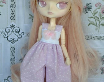 Overall Nelly pink dot [Dal obitsu 21cm =]