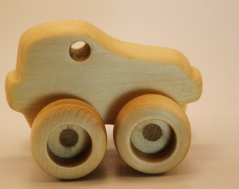 Wood Toy Cars handmade for play  One of a kind design with working wheels  Made in Canada Children's toy Vintage gift