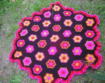 Crochet  flower blanket  / throw