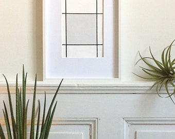 Wood frame: original wall decor painting.