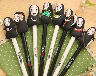 4 Pc Set Miyazaki Hayao Spirited Away Gel Pens ~ Kawaii Pens, Planner Accessories, Gel Pens, Writing Tool, Office Pens, Cute Pen, Miyazaki