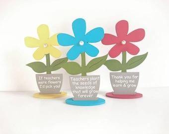 personalised teacher gift thank you wooden flower pot teacher sign end of term year gift nursery teacher sign childminder teaching assistant