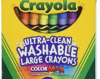 Crayola Washable Crayons Large Colors