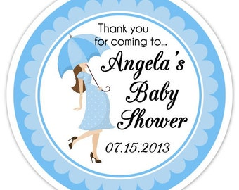 Baby Shower Umbrella Stickers, Custom Baby Shower Labels, Personalized for YOU