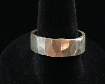 Hammered Sterling Band Ring