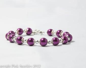 Magenta Pearl Bracelet