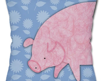 Stinkin' Cute Pig Throw Pillow
