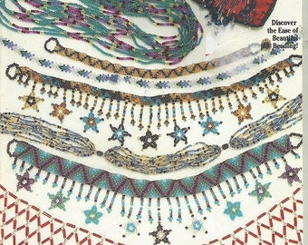 Vintage NECKLACE BEADING PROJECTS:  Suzanne McNeill Design Originals c. 1992 - No. 2322 - Step by Step
