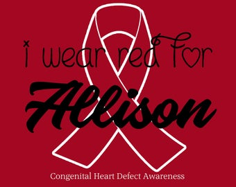 I wear red for CHD