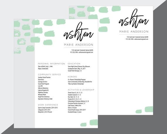 custom sorority recruitment resume and cover letter artsy